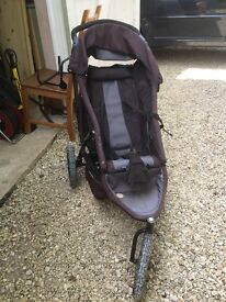 Phil and Teds Black Double Buggy with maxi cost bar and new born baby carrier