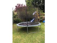 10 foot Jumpking Trampoline with ladder, no net or surround padding