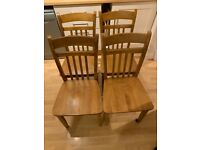 4 Solid Wood Chairs Dining table set The Pier (SOLD)