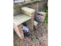 Bricks to build garden barbecue