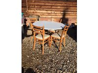Retro Round Kitchen Dining Table and Chairs
