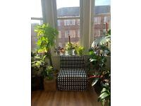 Ikea Chair Bed. LYCKSELE LÖVÅS Chair-bed, Ebbarp black/white. RRP£140