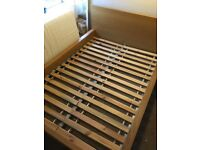 Double bed frame with headboard from IKEA