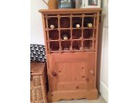 Wine rack and cabinet