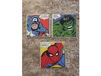 Super hero canvas pictures