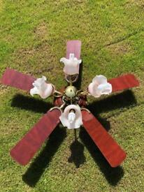5 blade ceiling fan with lights