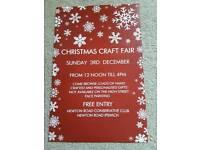 Craft fair Sunday 3rd December 12 till 4