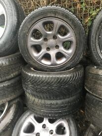 CITROEN SAXO 14 INCH ALLOY WHEELS 4 STUD WITH 185/55R14 TYRES SET OF FOUR