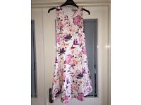 White Floral Coast dress - size 8