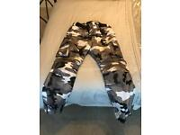 Motorbike motorcycle camouflage trousers size 36