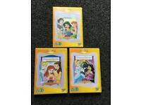 3 Disney princess dvds