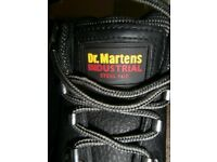 Dr Martens size 9 black industrial steel toe cap boots - great condition