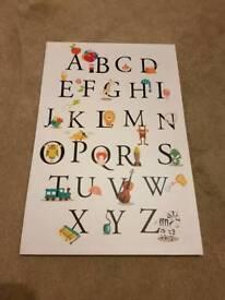 Children's alphabet picture