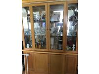 Beautiful solid birch wood display unit, in excellent condition
