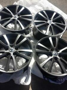 BRAND NEW   LEXUS IS 350 GUNMETAL GREY FACTORY OEM  18  INCH ALLOY RIM SET OF FOUR. NO SENSORS.