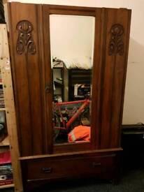 Antique mahogany wardrobe
