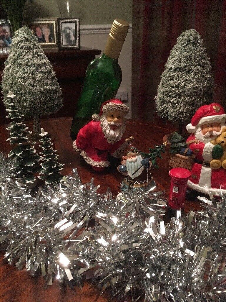 Silver Christmas decorations bundle