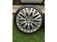 """**Genuine 20"""" KAHN RS-XF Alloys And Performance Tyres Nearly New** VW AUDI MERC FITMENT"""