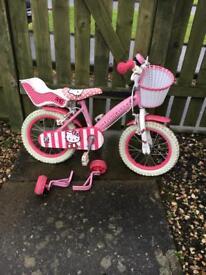 Girls hello kitty bicycle bike