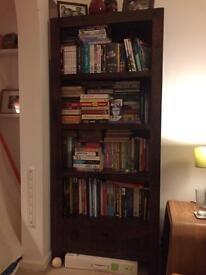 Mango wood bookcase