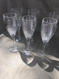 Royal Doulton 6 champagne flutes