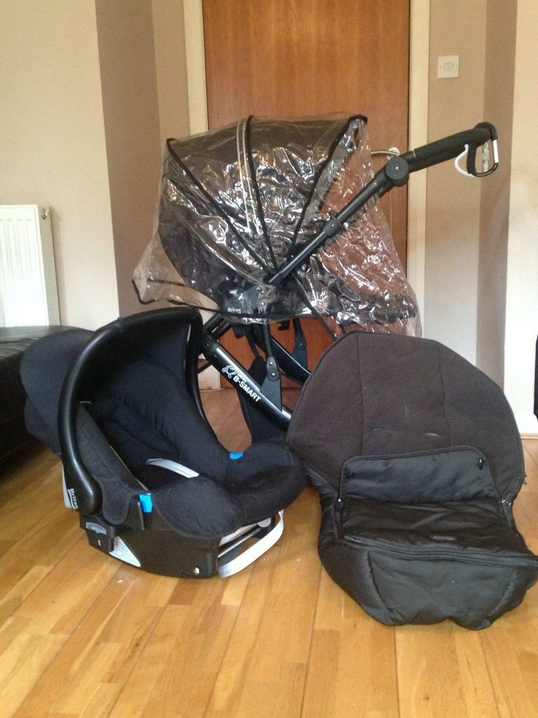 Britax B Smart Buggy Full Travel System With Rain Cover