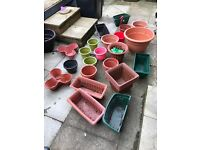 Job Lot of 25 Garden planters/pots