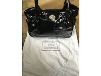 Lulu Guinness Black Patent Romilly bag