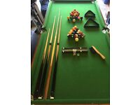 Le Club 6ft x3ft snooker/pool table