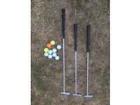 Mini golf putters and balls