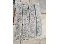 Curved coping / capping stones