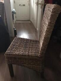 Rattan chairs X4