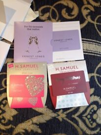 25% discount on any Ernest Jones and H.Samuel Gift Cards