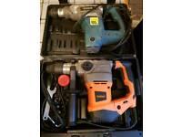 2 sds drills used erbauer and brand new vonhaus 1500w in case