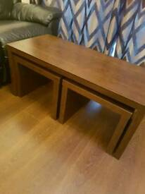 NEXT walnut coffee table set