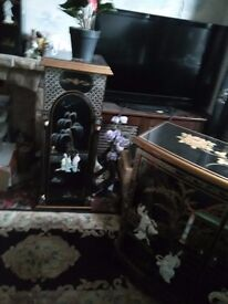 Tall mother of pearl cabinet forsale