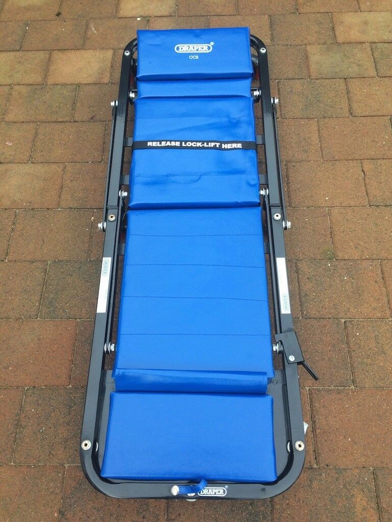Draper Mechanic's Trolley Creeper Seat for servicing cars and motorbikes