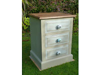 Shabby Chic bedside drawers (solid Pine)