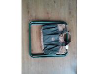 Handbag with foldable chair