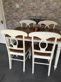 Heavy table and 4 chairs