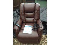 A near new Bradfield Riser Recliner tilt rise chair