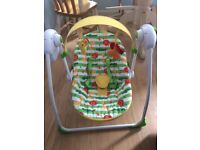 Jumperoo, Baby Swing and Door Bouncer for sale, not overused and so in excellent condition