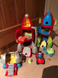 ELC Early Learning Centre Happyland Space Rocket Bundle & extra Space Rocket with sound!