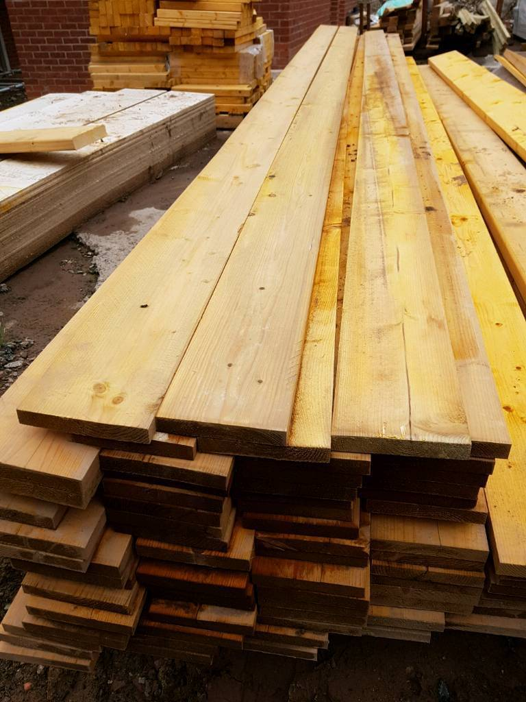"""Treated timber 5""""×1""""4,8 meter lengths"""