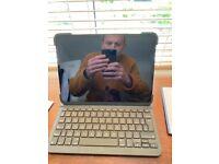 "iPad 11"" 128gb space grey with Logitech keyboard"
