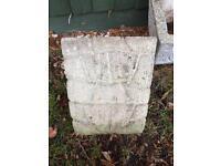 Four Large Garden Planting Pots -Patterned Concrete