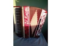 Italian Accordion Nobility of 120 bass buttons.