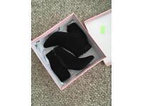 Raid black heel boots