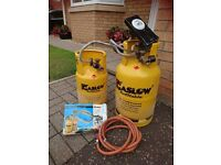LPG REFILLABLE GASLOW BOTTLES X 2 AND LINK KIT
