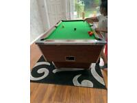 Ex pub pool table used condition coin dispenser